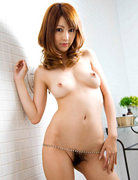 Model kaede matshushima in breast display