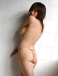 Model sakura shiratori in closet strip